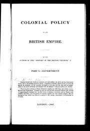 Cover of: Colonial policy of the British Empire | Robert Montgomery Martin