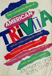 Cover of: The complete book of American trivia by Jay Hyams