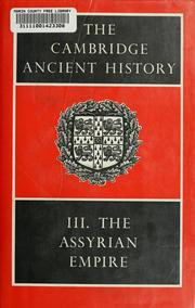 Cover of: The Cambridge ancient history |