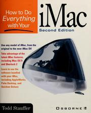 Cover of: How to do everything with your iMac by Todd Stauffer