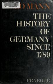 The history of Germany since 1789.
