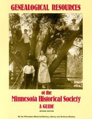 Cover of: Genealogical Resources of the Minnesota Historical Society