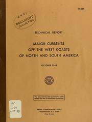 Cover of: Major currents off the west coasts of North and South America | William E. Boisvert