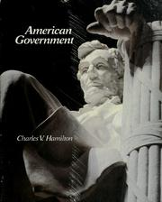 Cover of: American government | Charles V. Hamilton