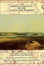 Cover of: Joseph N. Nicollet on the plains and prairies