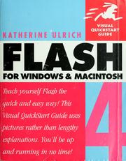 Cover of: Flash 4 for Windows and Macintosh | Katherine Ulrich
