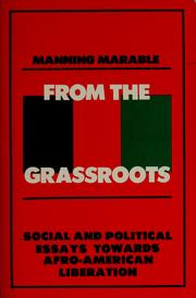 Cover of: From the grassroots | Manning Marable