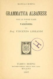 Cover of: Grammatica albanese by Vincenzo Librandi