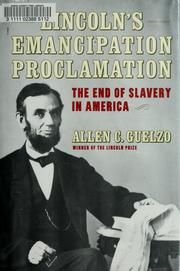 Cover of: Lincoln's Emancipation Proclamation | Allen C. Guelzo