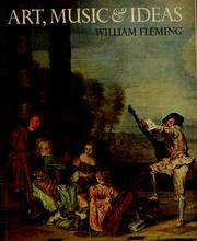 Cover of: Art, music & ideas | Fleming, William