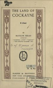 Cover of: The land of Cockayne by Matilde Serao