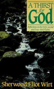 Cover of: A thirst for God by Sherwood Eliot Wirt