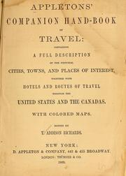 Cover of: Appleton's companion hand-book of travel by Thomas Addison Richards