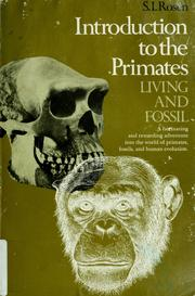 Cover of: Introduction to the primates: living and fossil | Rosen, Stephen I.
