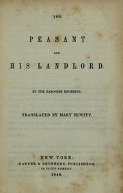 Cover of: The peasant and his landlord | Sofia Margareta Zelow Friherrina von Knorring