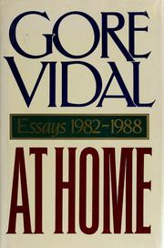 Cover of: At home | Gore Vidal