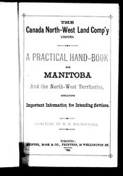Cover of: A Practical hand-book for Manitoba and the North-West Territories | W. B. MacDougall