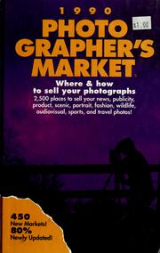 Cover of: Photographer's market, 1990 | Sam A. Marshall