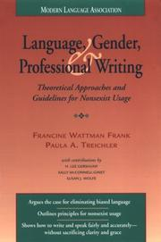 Cover of: Language, Gender, and Professional Writing