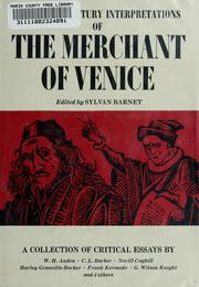 Cover of: Twentieth century interpretations of the Merchant of Venice | Sylvan Barnet