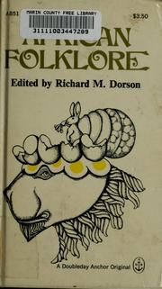 Cover of: African folklore | Richard Mercer Dorson