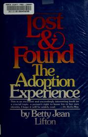 Cover of: Lost and found | Betty Jean Lifton