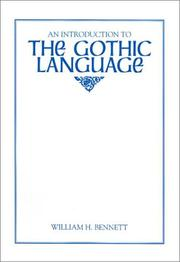 Cover of: An introduction to the Gothic language