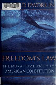 Cover of: Freedom's law | Ronald Dworkin