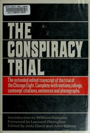 Cover of: The conspiracy trial. | David T. Dellinger