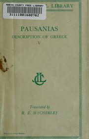 Cover of: Description of Greece by Pausanias