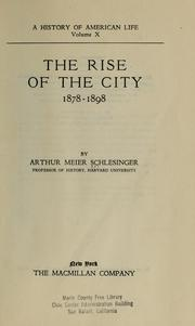 Cover of: The rise of the city, 1878-1898 by Arthur M. Schlesinger