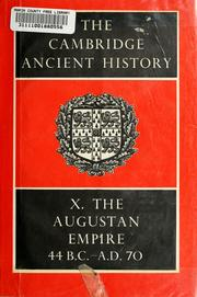 Cover of: The Cambridge ancient history | Cook, Stanley Arthur