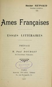 Cover of: Ames françaises | Hector Reynaud