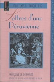 Cover of: Lettres D'Une Peruvienne (Texts and Translations : Texts, No 2)