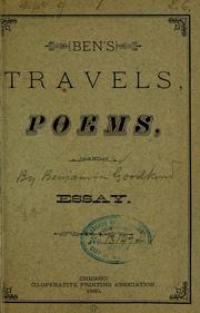 Cover of: Ben's travels, poems, and essay | Benj Goodkind