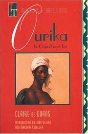 Cover of: Ourika: The Original French Text (Texts and Translations : Texts, No 3)