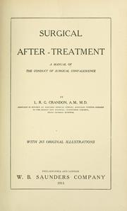 Cover of: Surgical after-treatment | L. R. G. Crandon