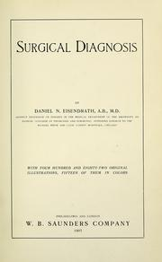 Cover of: Surgical diagnosis | Daniel N. Eisendrath
