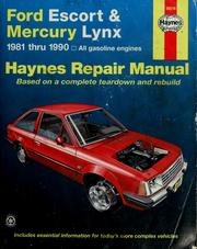Cover of: Ford Escort & Mercury Lynx automotive repair manual | John Harold Haynes