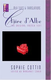 Cover of: Claire d'Albe