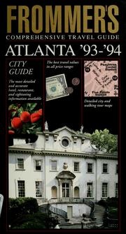 Cover of: Frommer's comprehensive travel guide, Atlanta '93-'94 | Rena Bulkin