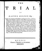 Cover of: The trial of Daniel Disney, Esq by Daniel Disney