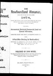 Cover of: The Newfoundland almanac, for the year of Our Lord 1878 |
