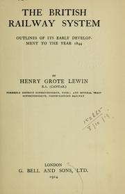Cover of: The British railway system | Henry Grote Lewin