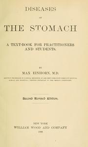Cover of: Diseases of the stomach | Einhorn, Max