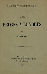 Cover of: Les belges à Londres by