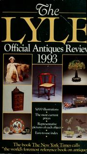 Cover of: The Lyle official antiques review 1993 |