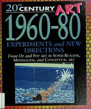 Cover of: 20th century art, 1960-80 by Clare Oliver