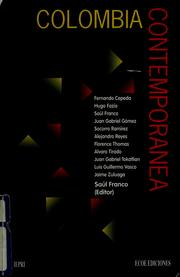 Cover of: Colombia contemporánea | Fernando Cepeda ... [et al.] ; Saúl Franco (editor).