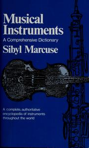 Cover of: Musical instruments | Sibyl Marcuse